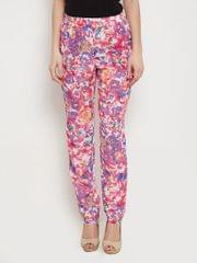 Trousers In Fuchsia Print With Side Pockets Detail /TRF350143