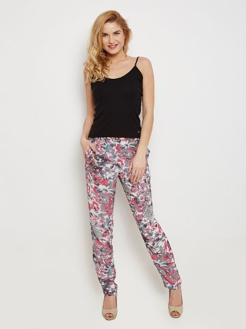 Trousers In Grey Print With Side Pockets Detail /TRF350144