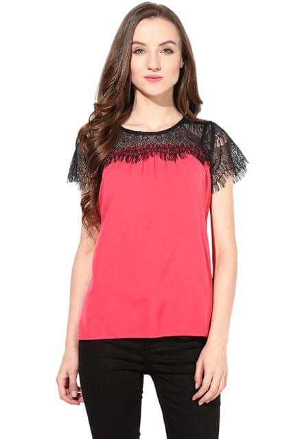 Top With Lace On The Yoke Portion/ TSF400425