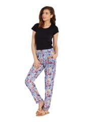 Straight Trouser In Indigo Print With Side Pockets Detail/ TRF350145