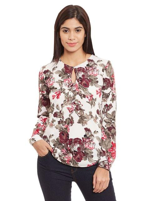 Round Neck Top In Multi Color/ TSF400761
