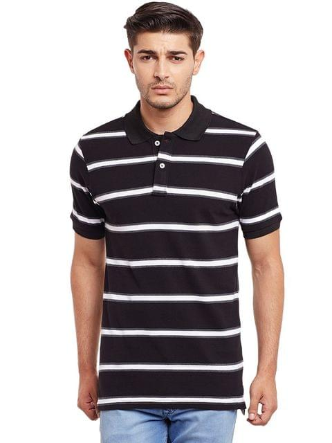 Polo T-Shirt In Green And White Stripes /TSM840003