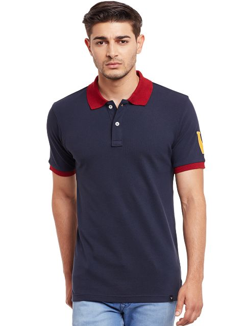 Polo T-Shirt In Navy Color /TSM840010
