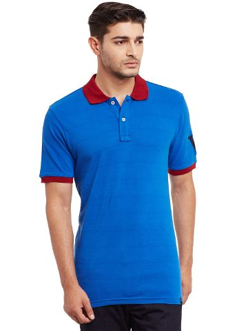 Polo T-Shirt In Blue Color /TSM840012