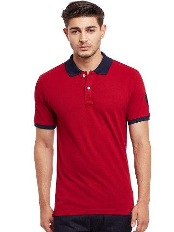Polo T-Shirt In Maroon Color /TSM840013