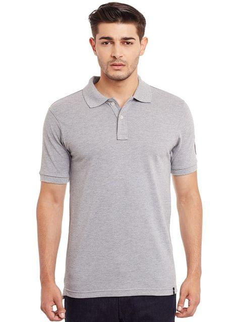 Polo T-Shirt In Grey Color /TSM840024