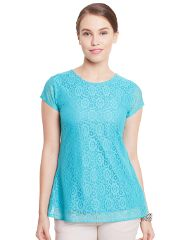 Double Layer Top In Sky Blue Color/ TSF400781