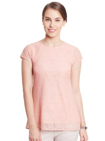 Double Layer Top In Peach Color/ TSF400780