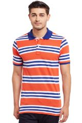 Polo T-Shirt In Red And White Stripes/ TSM840008