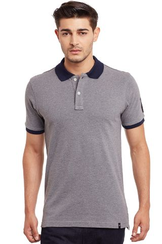 Polo T-Shirt In Grey Color/ TSM840011