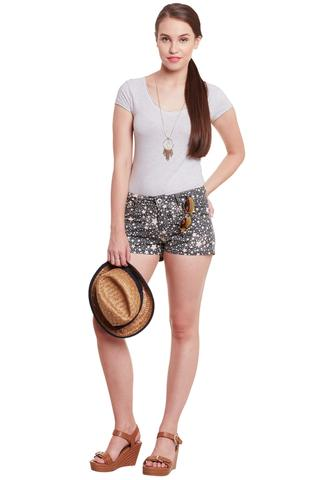 Shorts In Grey Star Print/ SHF350165