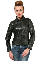 100% Pure Soft Lamb Green Leather Jacket /JKF1354