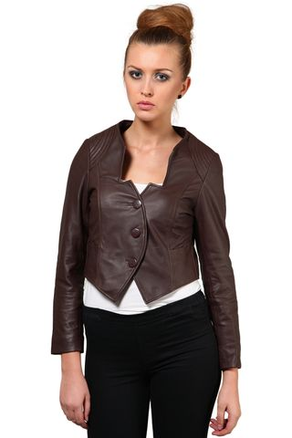 100% Pure Soft Lamb Brown Leather Jacket /JKF1359