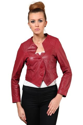 100% Pure Soft Lamb Red Leather Jacket /JKF1360