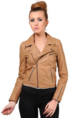 100% Pure Soft Lamb Sand Leather Jacket /JKF1362