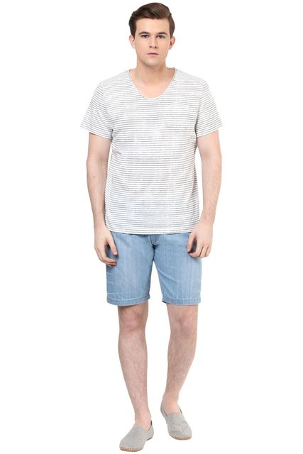 Men's Denim shorts in dark wash/TRM860020