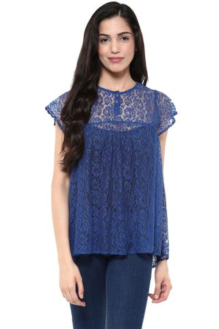 Flare Top In Blue Color /TSF400779