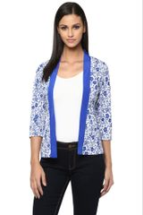 Front Open Light Weight Jacket In Blue Print /JKF450218