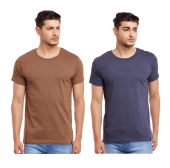 Pack of Two Solid Round Neck T-shirt Combo /CMT660011