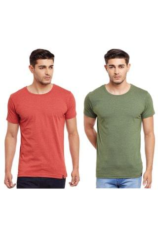 Pack of Two Solid Round Neck T-shirt Combo /CMT660012