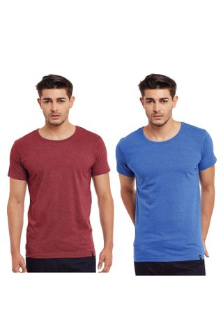 Pack of Two Solid Round Neck T-shirt Combo /CMT660013