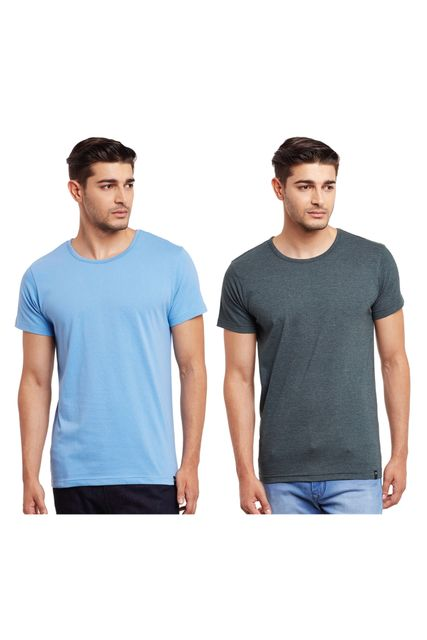 Pack of Two Solid Round Neck T-shirt Combo /CMT660014