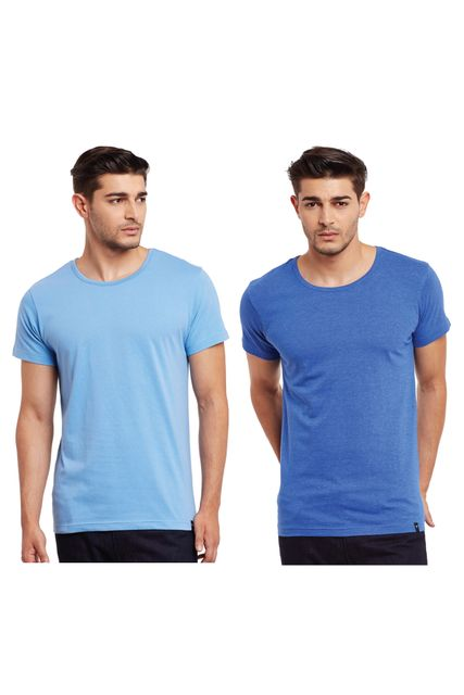 Pack of Two Solid Round Neck T-shirt Combo /CMT660017