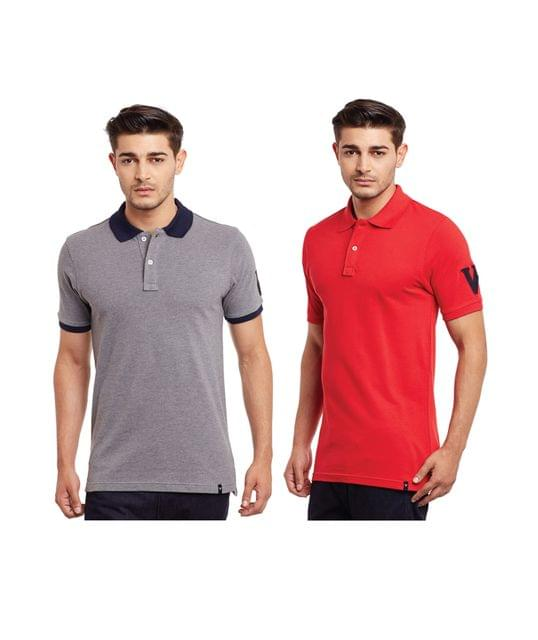 Pack of Two Solid Polo T-shirt Combo /CMT660022