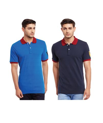 Pack of Two Solid Polo T-shirt Combo /CMT660024