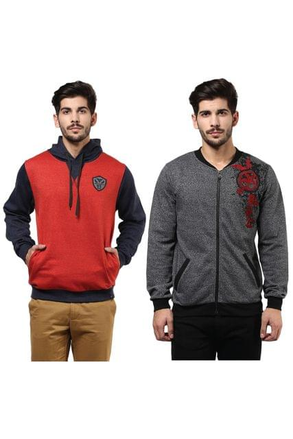 Pack of Two Solid Sweatshirts Combo/ CMW690000