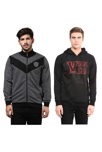 Pack of Two Solid Sweatshirts Combo/ CMW690002