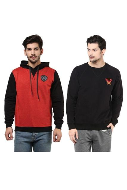 Pack of Two Solid Sweatshirts Combo/CMW690004