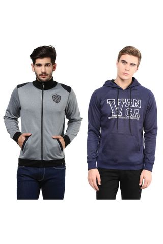 Pack of Two Solid Sweatshirts Combo/ CMW690005