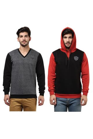 Pack of Two Solid Sweatshirts Combo/ CMW690006