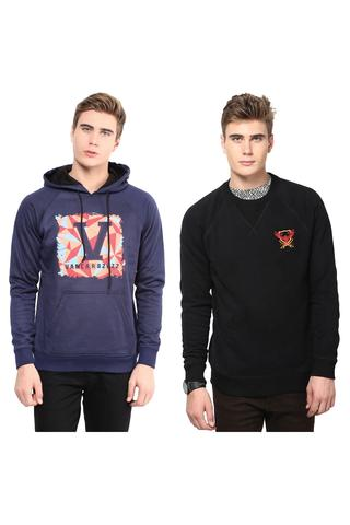 Pack of Two Solid Sweatshirts Combo/CMW690009