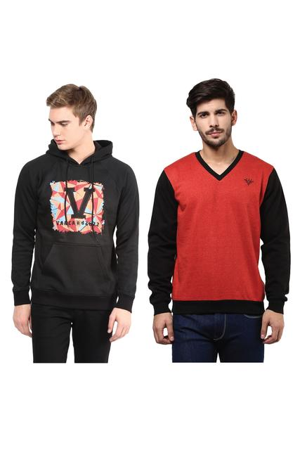 Pack of Two Solid Sweatshirts Combo /CMW690010