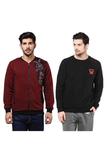 Pack of Two Solid Sweatshirts Combo /CMW690011