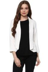 Solid White Color Formal Jacket With Shawl Collar /JKF450238