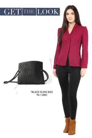 Lace Light Weight Jacket In Marsala Color/ STL450024