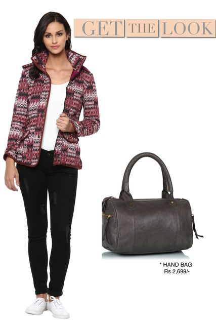 Printed Marsala Quilted Hooded Jacket/ STL450217