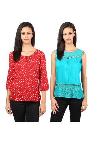 Women's Stylish Tops Combo Pack Of 2 /CMT610023