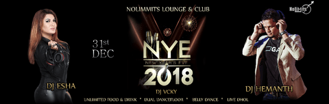 NEW YEAR EVE-2018 No Limmits Lounge & Club,Ashok Nagar, Bengaluru, Karnataka, India