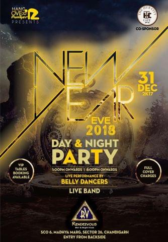 NEW YEAR EVE 'HANGOVER PUNKERZ' at Club Rv, Sector 26 Chandigarh 2018