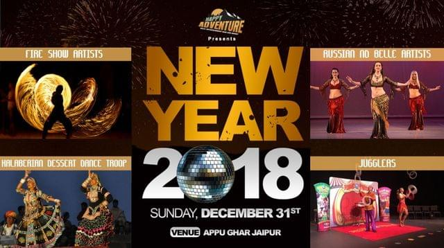 New year 2018 party at  Retro Adventure Hills, Appu Ghar Jaipur