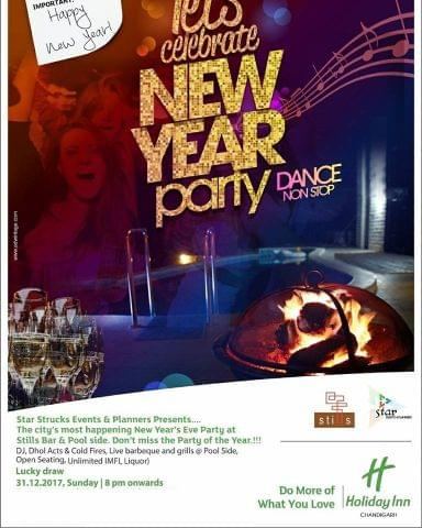 New Year Party In Holiday Inn, Chandigarh - Panchkula