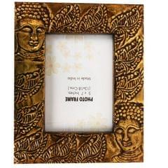 Purpledip Brass Buddha photo frame for 5x7 inch picture size (10128)