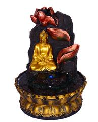 """Purpledip Water Fountain """"Buddha's World"""" With River Flowing Through Diyas In Mountains (10501)"""
