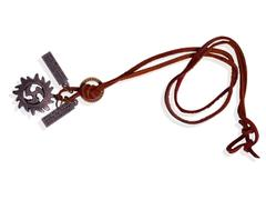 """Purpledip Necklace Chain """"Lonely Lover"""": Unique Pendant With Adjustable Cotton Cord (30058)"""