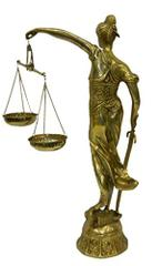 Pure brass Justice Lady Andha Kanoon Tall Statue Showpiece for Courtroom Office Brass statues Table Decor Handcrafted Indian Gift       (10801)