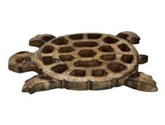Purpledip Wooden Trivet 'Take It Slow' Coaster Hot Pad Mat for Dining Table, Kitchen  (10793)